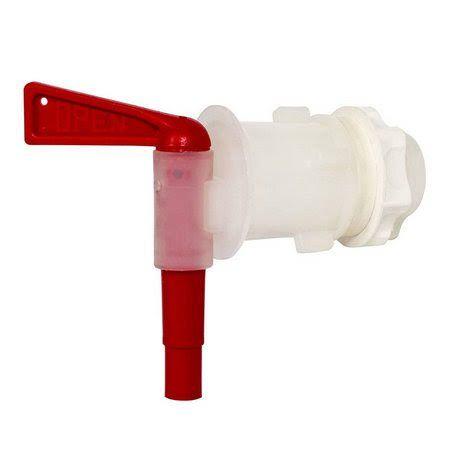 Torneira Plastica 3/4 com anti sedimento para Fermentador (Branca)