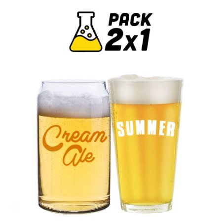 Kit Cerveja Facil 2x1 Summer Ale e Lazy Cream Ale 10 litros