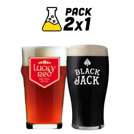 Kit Cerveja Facil 2x1 Black Jack e Luck Red 20 litros