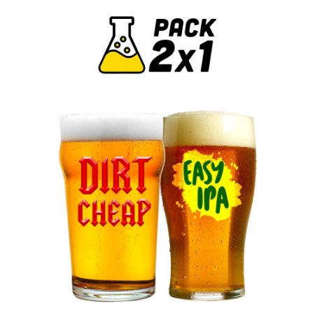 Kit Cerveja Facil 2x1 Easy IPA e Dirt Cheap 20 litros