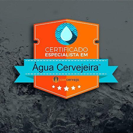 Certificação em Água Cervejeira - Compre na descrição
