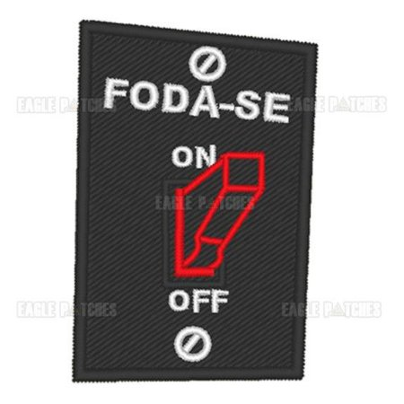 PATCH BORDADO COM VELCRO FODA-SE MODO ON