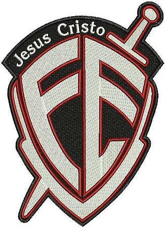 PATCH BORDADO COM VELCRO FÉ JESUS CRISTO