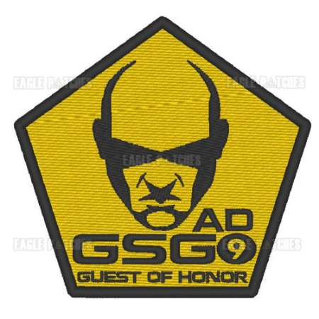 PATCH BORDADO COM VELCRO GSG9