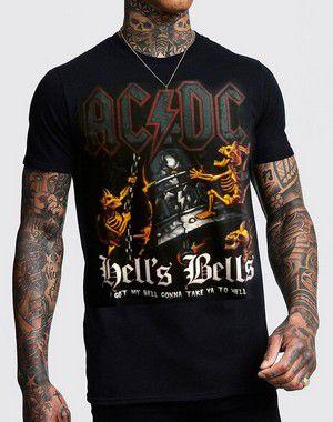 Camiseta AC DC Hell Bells Preta
