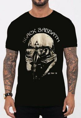 Camiseta Black Sabbath Tour Preta