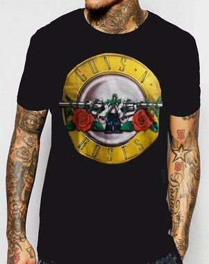 Camiseta Guns N Roses Logo Preta