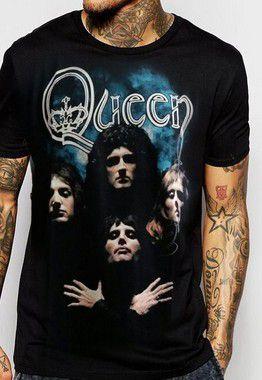 Camiseta Queen  Bohemian Rhapsody Preta
