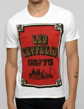 Camiseta Led Zeppelin Earl's Court 75 Of White