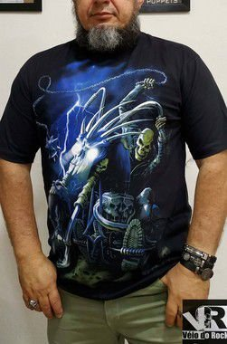 Camiseta Motoqueiro Fantasma Preta