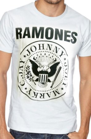 Camiseta Ramones Branca
