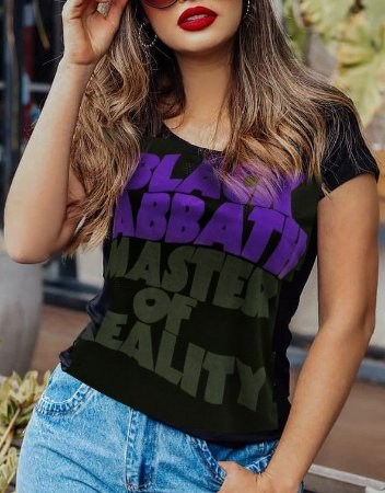 Blusa Feminina Black Sabbath Preta