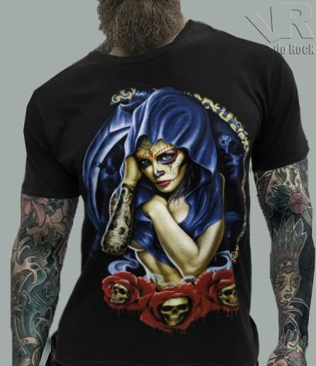 Camiseta Catrina Capuz