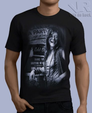 Camiseta Janis Joplin Preta