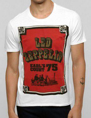 Camiseta Led Zeppelin Earl's Court 75 Of White