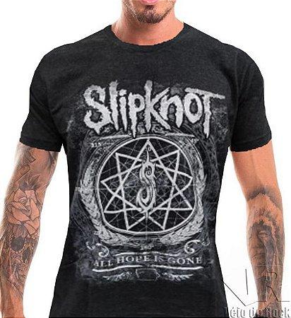 Camiseta Slipknot Cinza Escuro