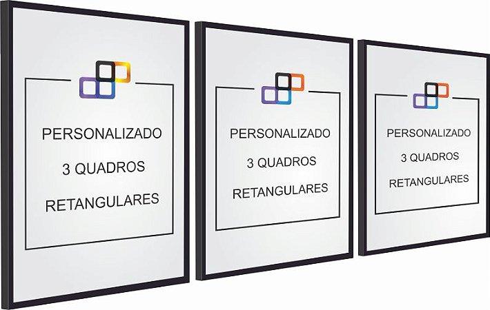 PERSONALIZADO - 3 QUADROS RETANGULARES