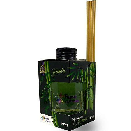 Difusor Caixinha Black Bambu 150ml - Tropical Aromas