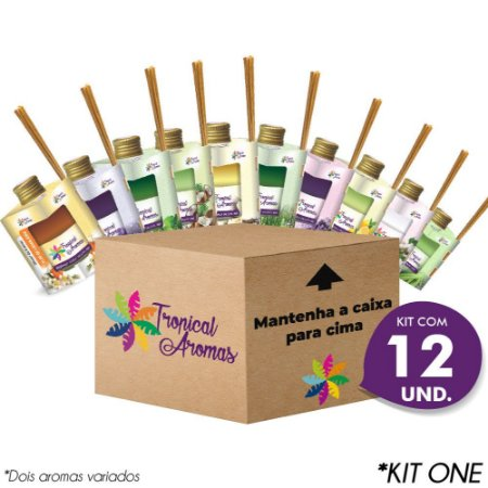 Kit Revenda Difusor Caixinha 12 Unidades - Tropical Aromas