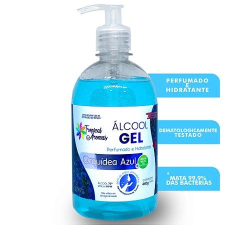 Álcool Gel Perfumado Orquídea Azul 500ml - Tropical Aromas