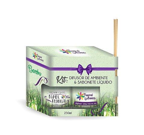 Kit Refil Difusor e Sabonete Líquido Bambu 250ml - Tropical Aromas