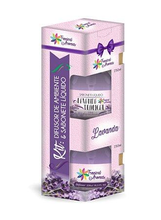 Kit difusor e sabonete líquido com Válvula- Lavanda 250ml