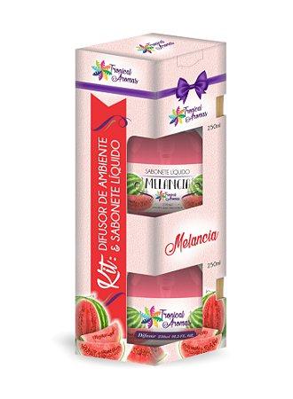 Kit difusor e sabonete líquido Melancia 250ml - Tropical Aromas