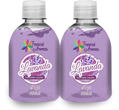 Kit Refil Sabonetes Líquido Lavanda 500ml - Tropical Aromas