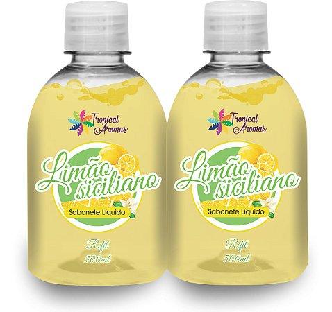Kit Refil Sabonetes Líquido Limão500ml - Tropical Aromas