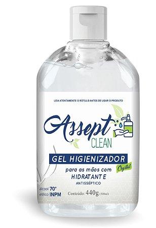 Álcool em Gel Higienizador 500ml - Assept Clean