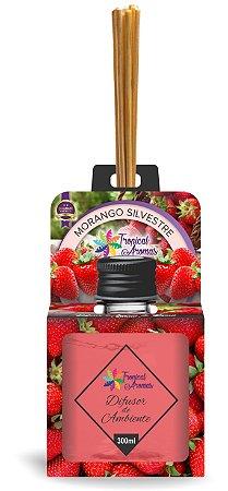 Difusor Aromas do Brasil Morango Silvestre 300ml - Tropical Aromas