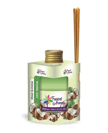 Difusor Caixinha Coco Tropical 250ml - Tropical Aromas