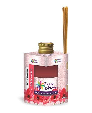 Difusor Caixinha Flor de Amarílis 250ml - Tropical Aromas