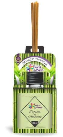 Difusor Aromas do Brasil Bambu 300ml - Tropical Aromas