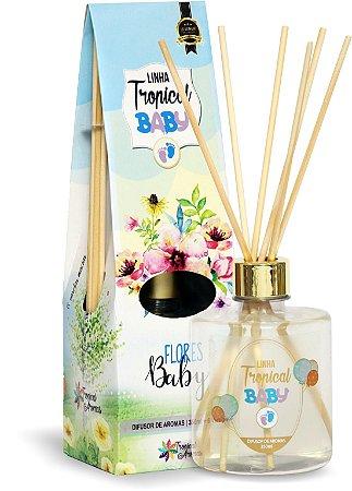 Difusor de luxo Flores baby 350ml - Tropical Aromas