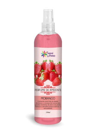 Perfume de Ambiente Morango 240ml - Tropical Aromas