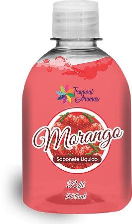Refil Sabonete Líquido  Morango500ml - Tropical Aromas
