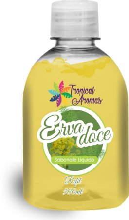 Refil Sabonete Líquido  Erva Doce 500ml - Tropical Aromas