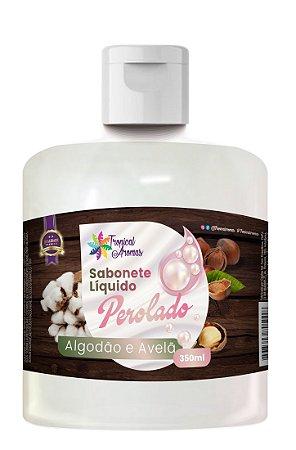 Refil Sabonete Perolado Algodão e Avelã 350ml - Tropical Aromas
