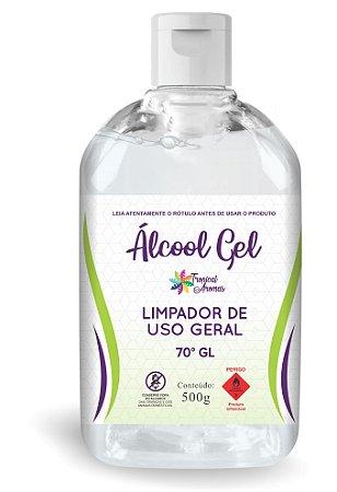 Refil Álcool em Gel 70º 500ml - Tropical Aromas