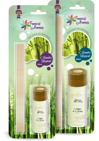 Difusor Blister Bambu 100ml - Tropical Aromas