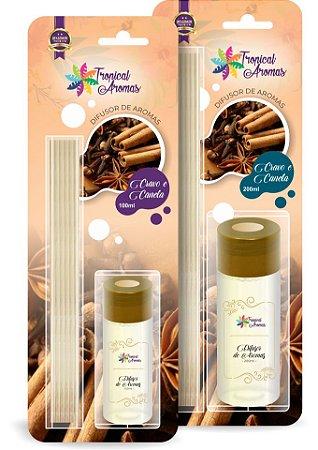 Difusor Blister Cravo e Canela  100ml - Tropical Aromas