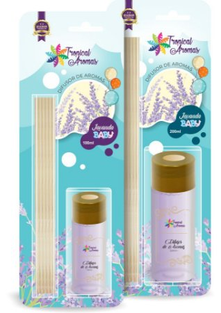 Difusor  Blister Lavanda Baby 200ml - Tropical Aromas