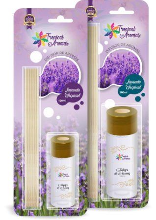 Difusor Blister Lavanda Tropical 100ml - Tropical Aromas