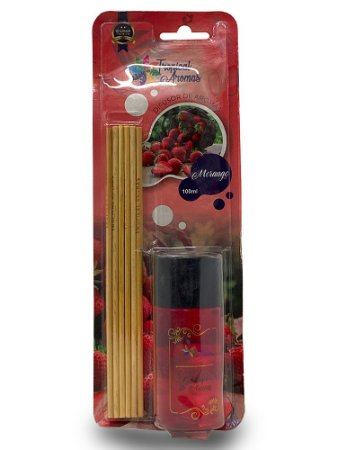 Difusor Blister Morango 100ml - Tropical Aromas