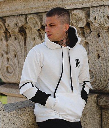 Blusa Moletom FB Logo College Off White