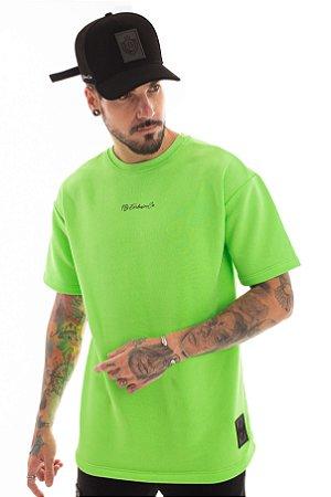 Camiseta Moletom Over Green Neon