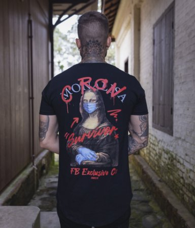 Camiseta Monalisa Preta