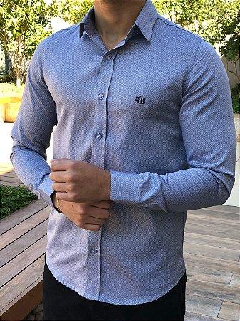Camisa Cinza Maquinetado