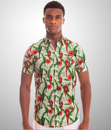 Camisa Macaw Plant